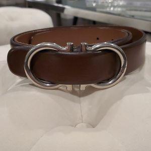 Mens Ferragamo brown leather belt